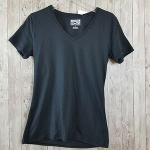 NEW Converse All Star Basic Black V-Neck Tee